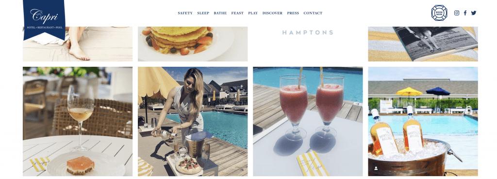 Capri Southampton Sticky Header