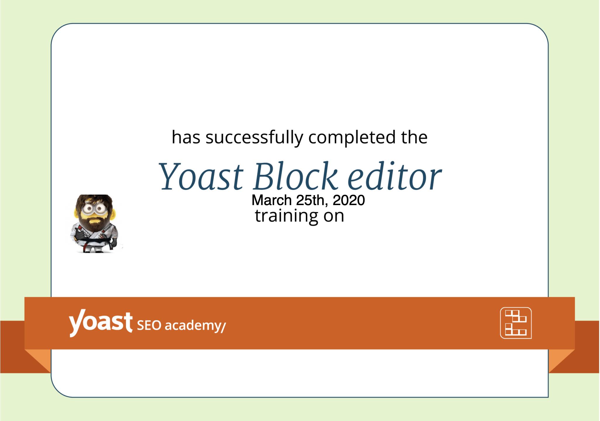 Yoast Block Editor