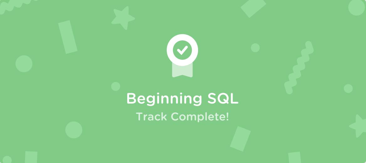 Treehouse Beginning SQL 20200518