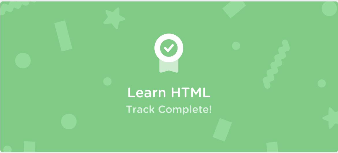 Treehouse Learn HTML Cert