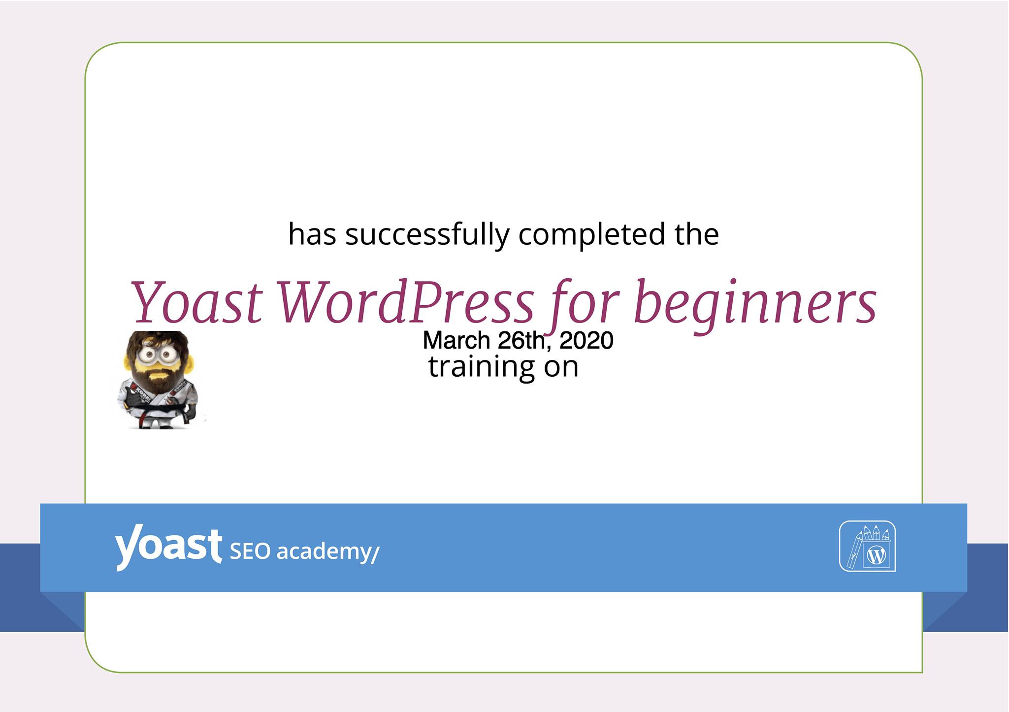 Yoast WordPress for Beginners